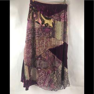 Cache patchwork skirt Sz 6